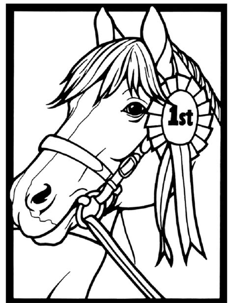 coloring pictures of pony horse coloring page of show pony proudly wearing blue