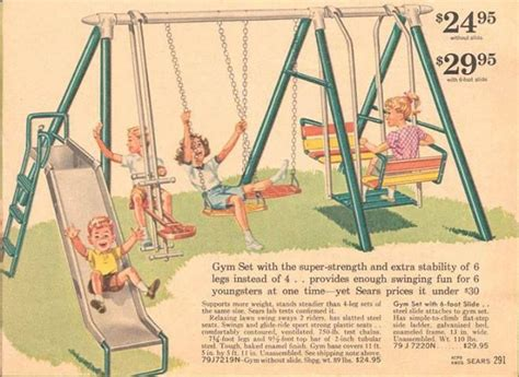 old metal swing set swing set in vintage sears catalog toys and games