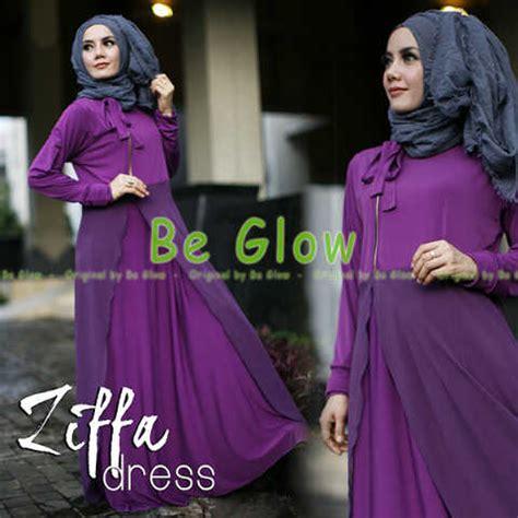 Ummi Syari Ungu Gamis Syar39i Terbaru Busana Muslim Wanita ziffa purple baju muslim gamis modern