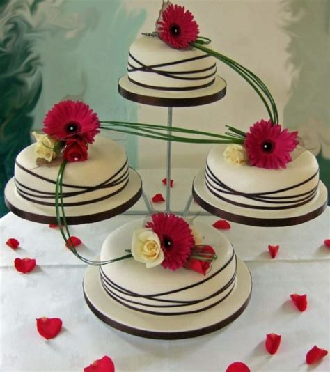 modern wedding cakes wedding bells