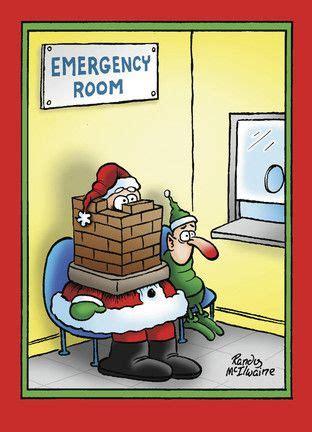 emergency room santa nobleworks funny christmas card funny christmas cartoons christmas