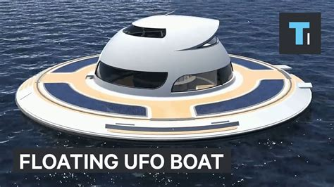 floating boat house ufo floating ufo boat lets you live underwater youtube
