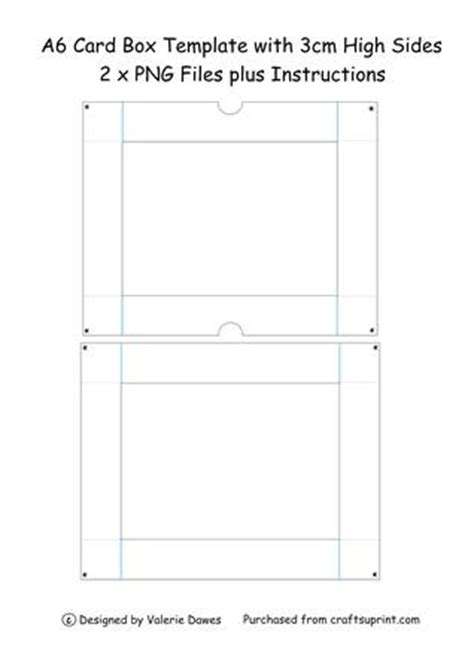 card box template pdf a6 card box lid with 3cm high sides cup130058 203
