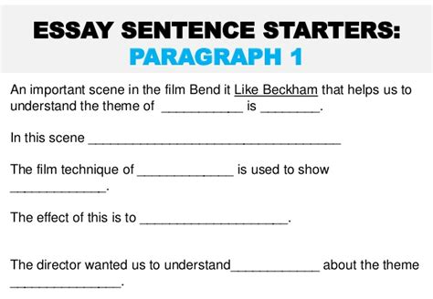 Bend It Like Beckham Essay by Bend It Like Beckham Theme Essay Task