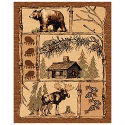 cabin rugs clearance donnieann 174 5x8 lodge area rug brown cabin wildlife