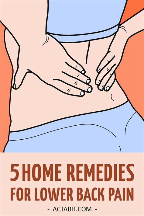 5 home remedies for lower back relief