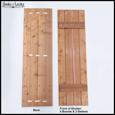 cedar z shutters rustic wood exterior shutters pair hooks lattice