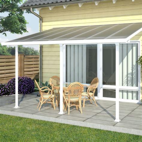 aluminium terrasse pergola toit terrasse aluminium et polycarbonate 4x3 m