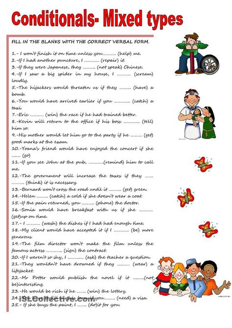 80 best conditionals images on pinterest english grammar 11 best conditionals esl english worksheets images on