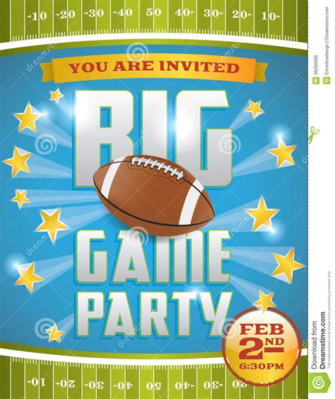 American Football Party Flyer Royalty Free Stock Images Image 36266089 Free Tailgate Flyer Template