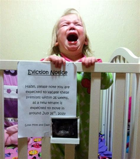 A Very Generous Eviction Notice The Meta Picture Baby Hates Crib
