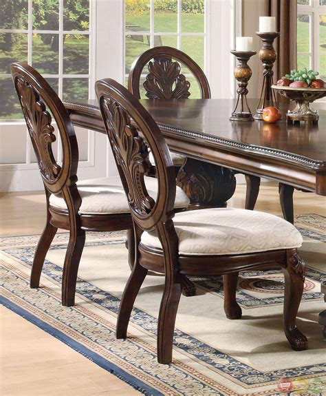 formal dining room chairs tabitha dark cherry finish formal dining room set