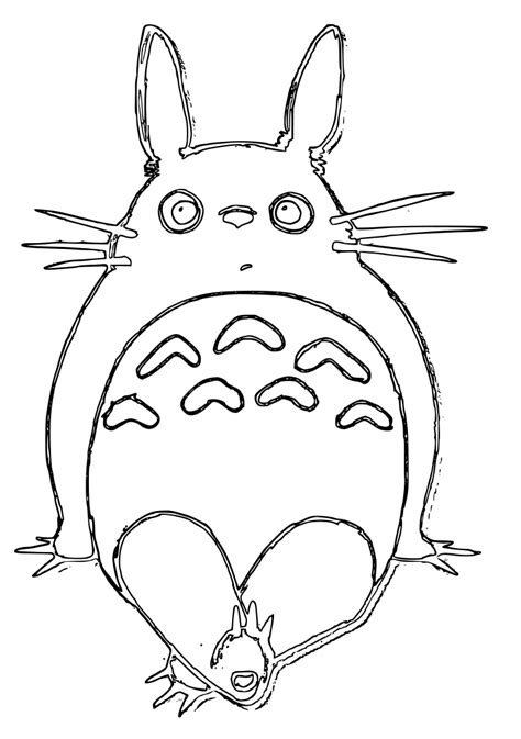 may totoro coloring pages