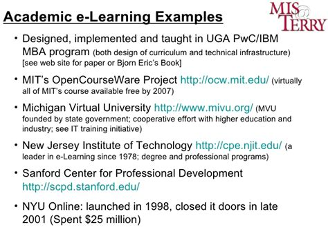 Mba Programs In Njit by E Learning Facilitating Learning Through Technology