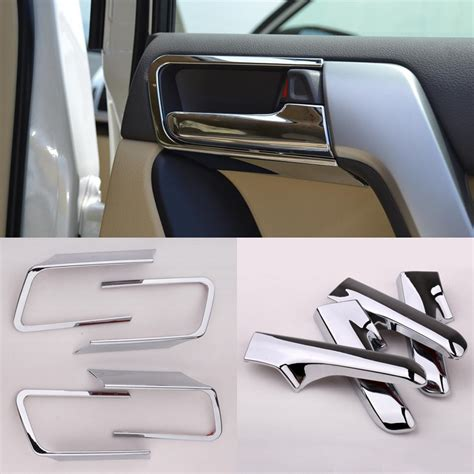 Car Interior Door Handles Aliexpress Buy 1 Set Abs Chroming Car Interior Door Handle Cover For Toyota Land Cruiser