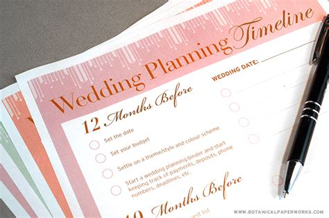 printable wedding notebook organizer free printable wedding planning timeline blog