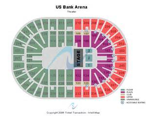 map us bank arena ringling bros tickets seating chart us bank arena t stage