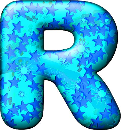 Blue W I Z A R D presentation alphabets balloon cool letter r