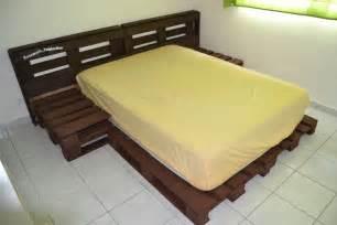 diy fabriquer un lit en palette de bois cuboak