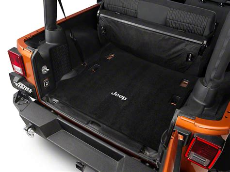 cargo mat for jeep wrangler unlimited with subwoofer lloyd jeep wrangler ultimat black cargo mat jeep logo