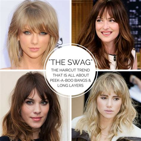 swag bangs haircuts top 678 ideas about estilo y arte capilar on pinterest
