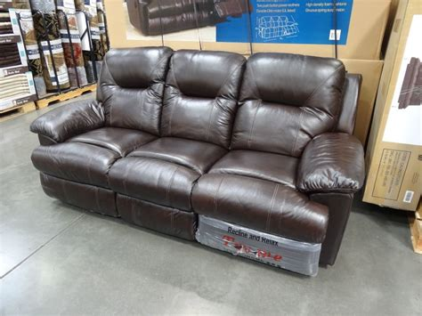 sofa with recliners on each end this sofa has two push button power recliners one on each