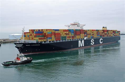 msc accro 238 t encore sa flotte de porte conteneurs mer et