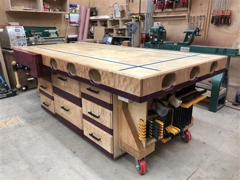 extreme torsion box assembly table  outfeedworkbench