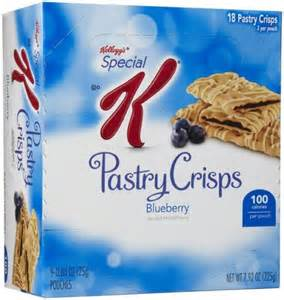 carbohydrates in kellogg s special k calories in kellogg s special k pastry crisps blueberry