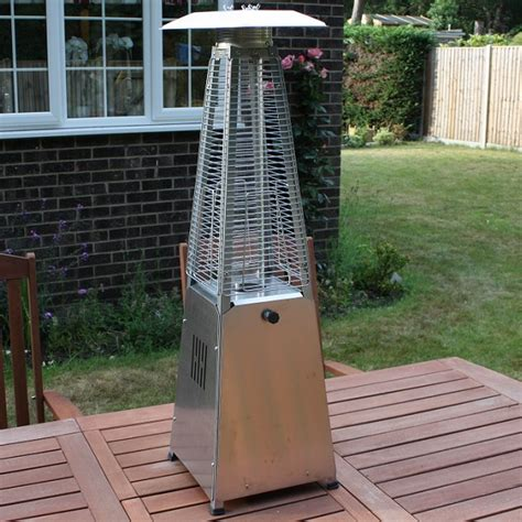 Pyramid Outdoor Gas Patio Heater With by Hausen 3kw Pyramid Real Patio Gas Table Top Heater
