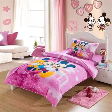 Bedroom Licious Mickey Mouse Print Bedding Set Mickey Minnie Mouse Quilt Comforter Bedding Sets Single