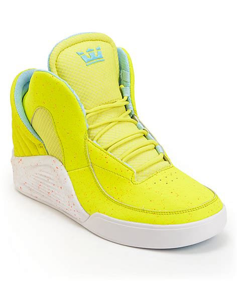 highlighter yellow basketball shoes lil wayne x supra spectre chimera highlighter yellow shoes