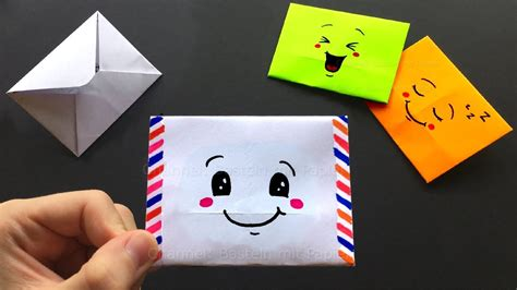 Origami Mini Envelope - how to make a mini origami envelope easy with emojis