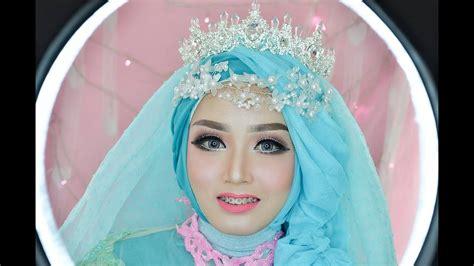 tutorial hijab pengantin ala barbie inspirasi pernikahan