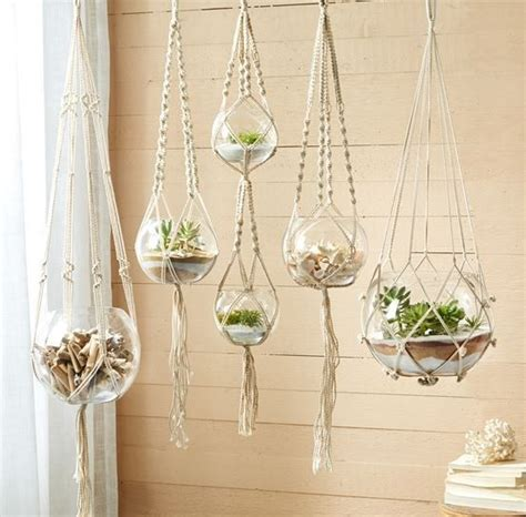 Window Plant Hanger - braided macram 233 plant hangers boho plant hangers and plants