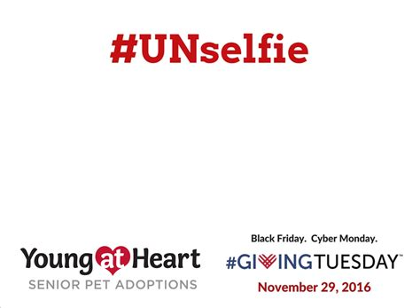 Givingtuesday Young At Heart Unselfie Giving Tuesday Template