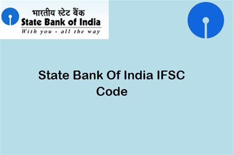 sc bank india state bank of india ifsc code