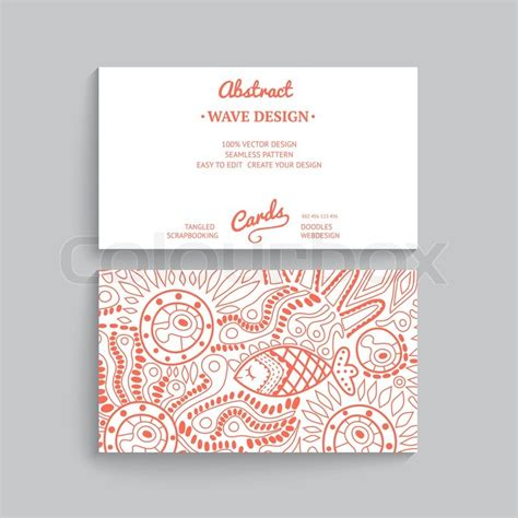 paper card wave template vector simple business card template with decorative