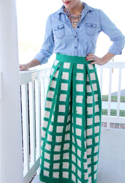 s pleated maxi skirt diy
