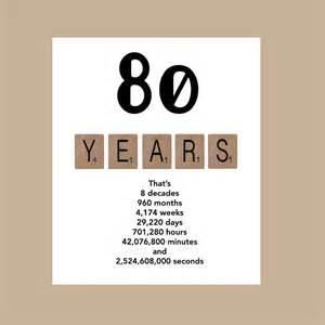 80th birthday card milestone birthday card the big 80 1937
