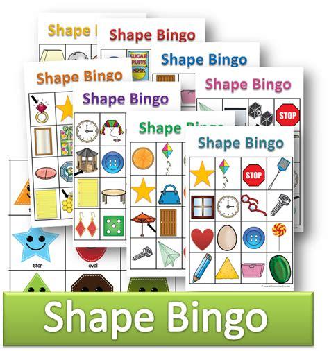 printable bingo cards with shapes shapes bingo