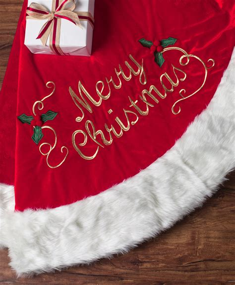 merry christmas velvet tree skirt tree classics