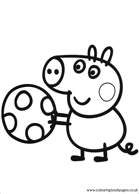 peppa pig george coloring page peppa pig colouring pages printable pictures and sheets