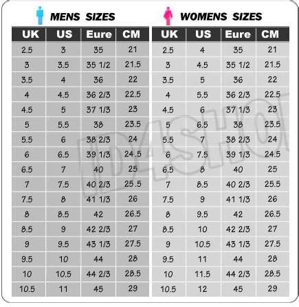 adidas yeezy size chart yeezy size chart