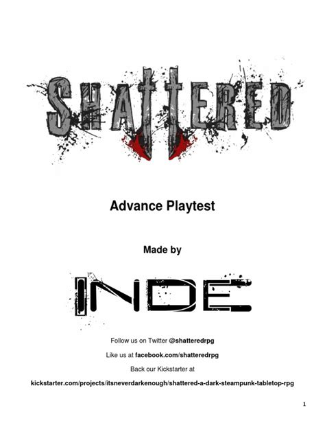 Shattered Playtest | Dice | Role Playing Games