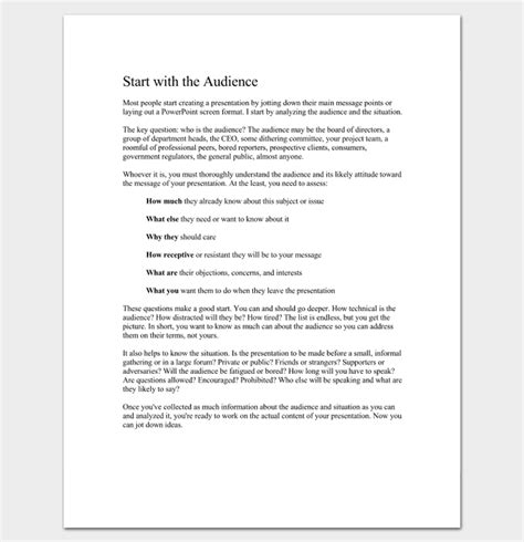 Presentation Outline Template 19 Formats For Ppt Word Pdf Business Presentation Outline Template