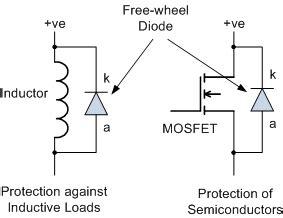 freewheeling diode uses signal diode