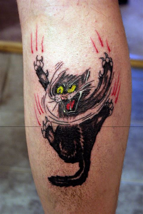 tattoo cat on leg 22 realistic cat tattoo designs for girls sizzling glamour