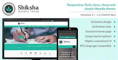 moodle themes free responsive shiksha responsive moodle theme by sorcerers themes