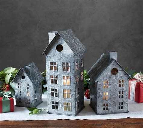 decorating a steel barn for christmas galvanized houses pottery barn